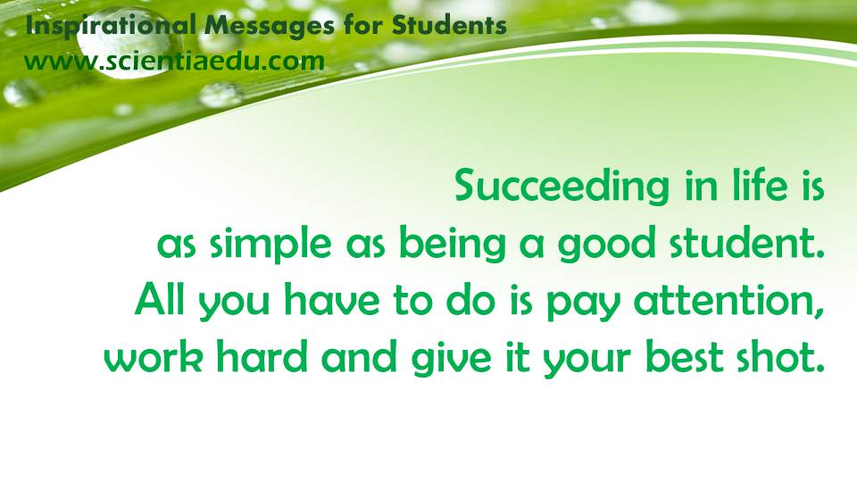 be a good student