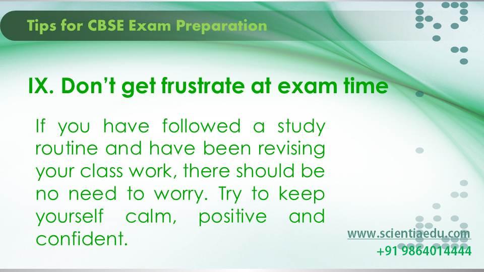Tips for CBSE Exam Preparation10