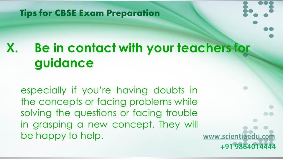 Tips for CBSE Exam Preparation11
