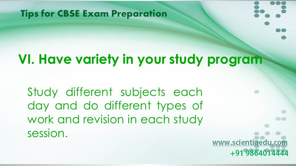 Tips for CBSE Exam Preparation7